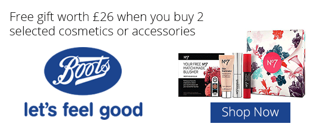 Free gift worth '£26 when you buy 2 selected cosmetics or accessories