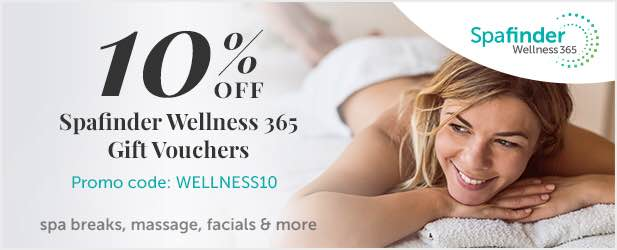 10% off when you spend '£50 or more on Spafinder Wellness 365 gift vouchers
