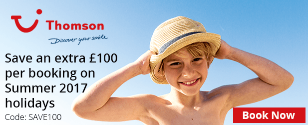 Save an extra '£100 per booking on Summer 2017 holidays