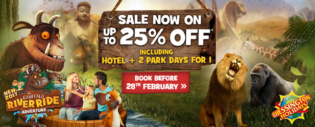 Up to 25% off 2017 Chessington Holidays