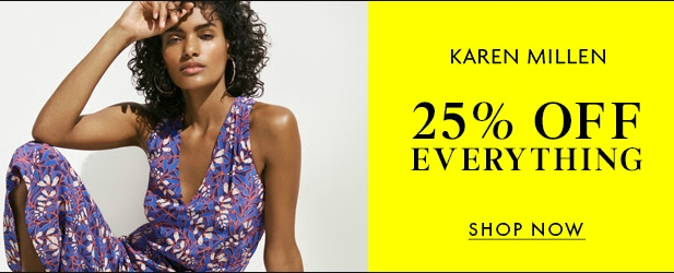 Shop 25% off Everything including sale items