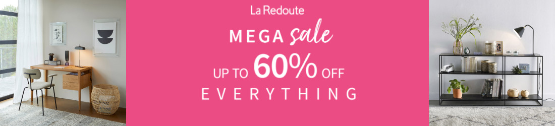 Up to 60% off everything!