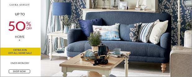 Up to 50% Off Home + EXTRA 20% Off ALL Home Sale & Free delivery on orders over '£50