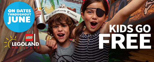 Visit the LEGOLAND Windsor Resort for even less this June as the Kids Go FREE!