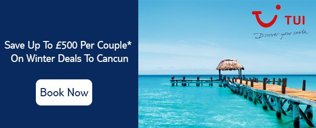 Save Up To '£500 Per Couple* On Winter Deals To Cancun, Mexico