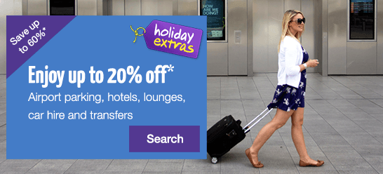 Enjoy up to 20% off airport parking, hotels & lounges + Pre-book & save up to 60%