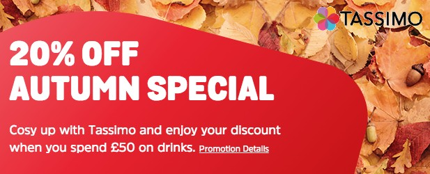 Autumn Special - Get 20% off drinks when you spend '£50